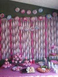 Streamers wall backdrop decoration. | Things I have done ...