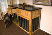 dog crates that look like furniture | Build dog crate into ...
