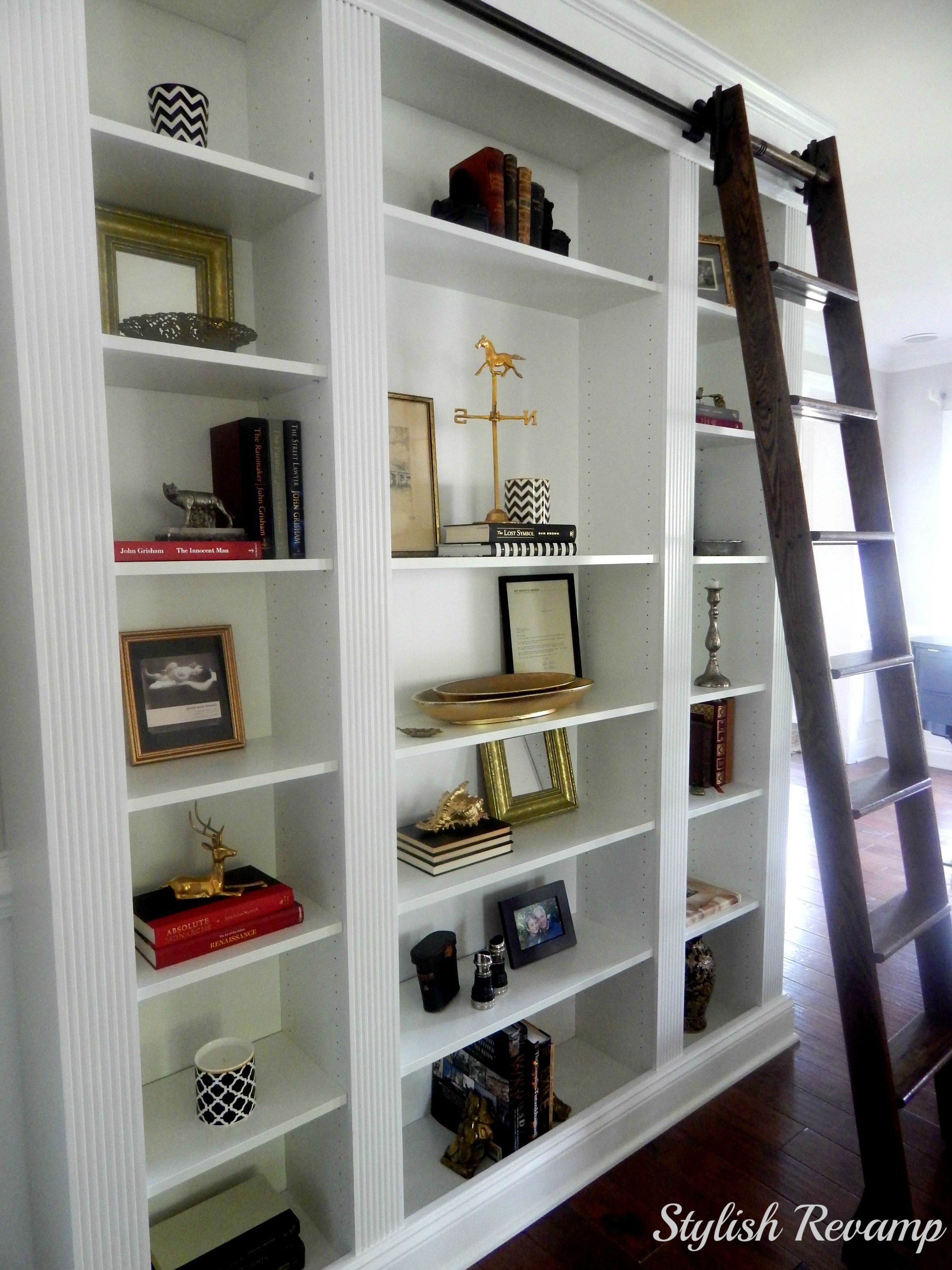 Ladder Bookshelf Ikea Ikea Billy Bookcase Hack Library Ladder Built Ins And