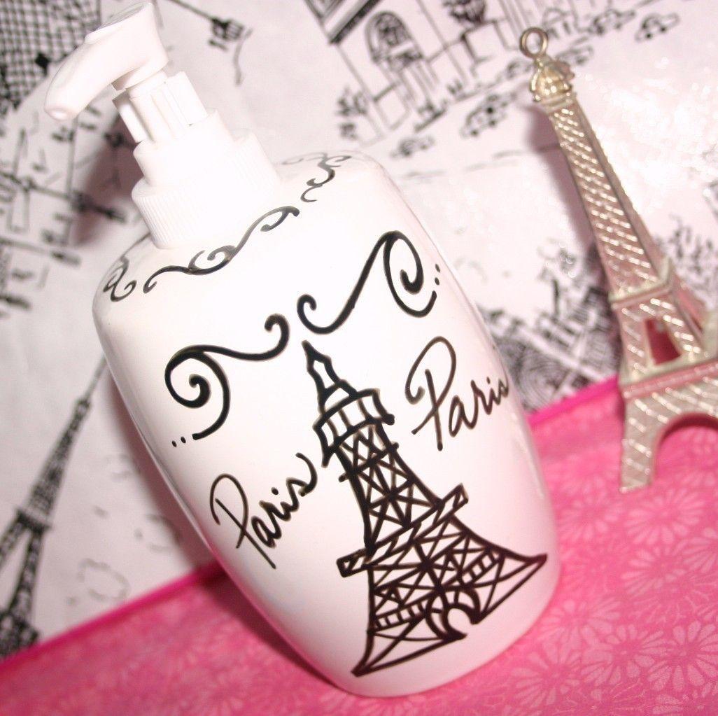 Paris decor themed bathroom accessories eiffel tower soap dispenser eiffel tower lotion dispenser