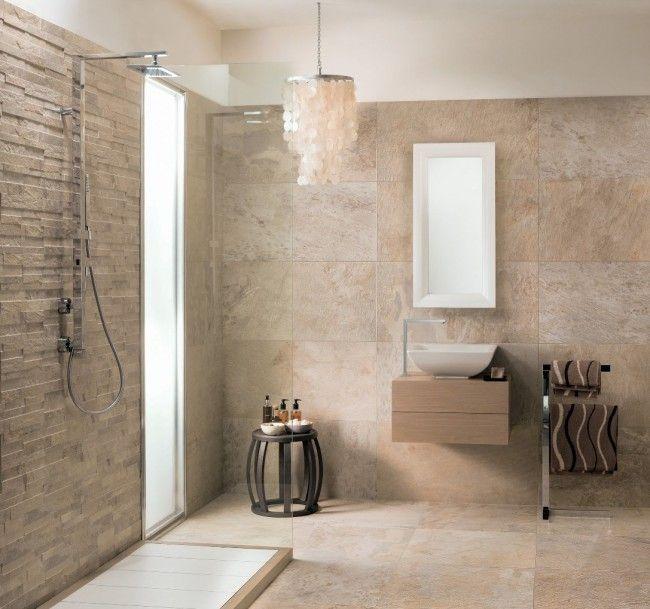 ardesie bad gestaltung mirage ideen beige steinzeugfliesen bad - badezimmer ideen braun beige