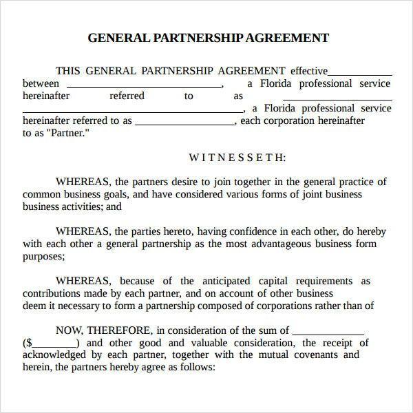 Real Estate Partnership Agreement Printable Sample Letter Of - joint partnership agreement template