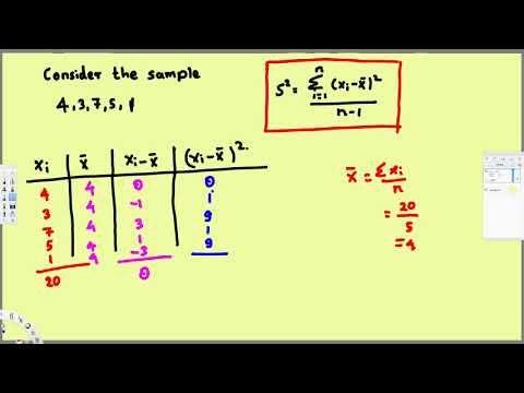 Sample Variance and Sample Standard Deviation - Treatment of - sample variance
