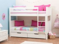 Stompa Classic Kids White Girls Bunk Bed, Stompa Bunk Beds ...
