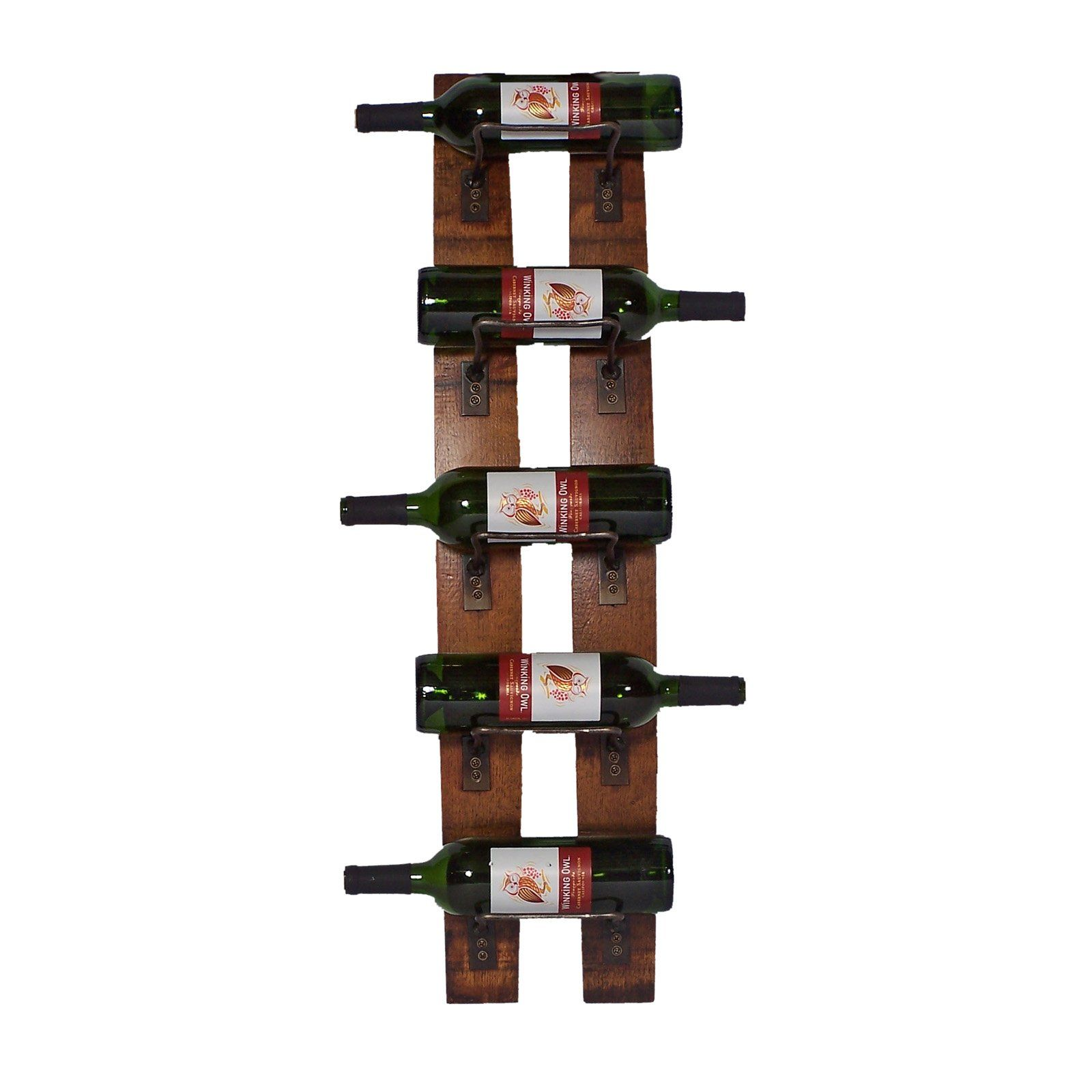Hanging Bottle Rack Have To Have It 2 Day Designs Reclaimed 5 Bottle Wall