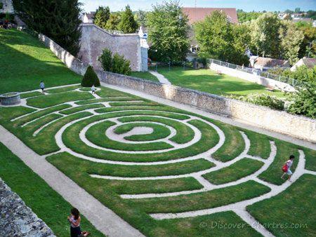 Chartres Labyrinth Garden, France Travel Pinterest - labyrinth garden design