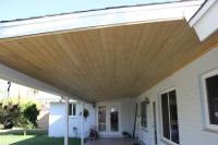 Tongue and groove patio ceiling