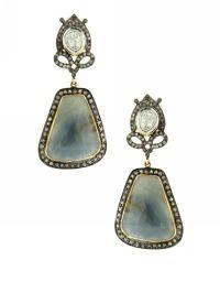 DIAMOND AND SAPPHIRE EARRINGS by Jennifer Miller ...