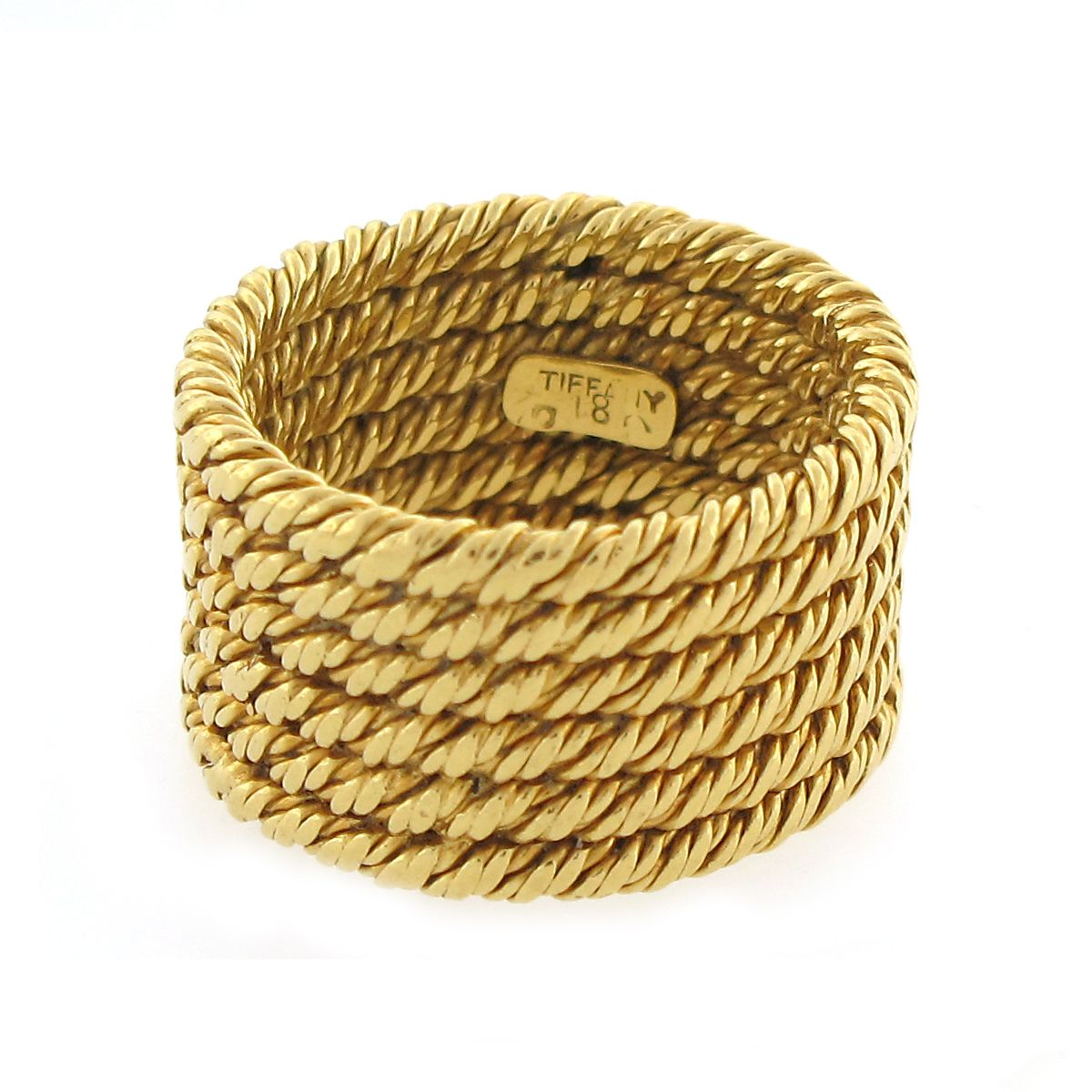 tiffany wedding bands Nontraditional wedding band Vintage Tiffany Co Rope Band Ring in 18K Gold