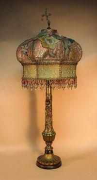 Antique table lamp with victorian lamp shade   Dekorasyon ...