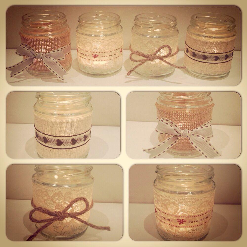 Homemade Candle Tea Light Jam Jar Holders Craft Diy