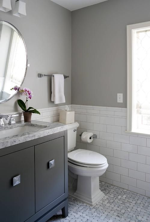 Charming white and gray bathroom