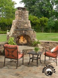 "Outdoor Fireplace: 72"" custom masonry outdoor fireplace ..."