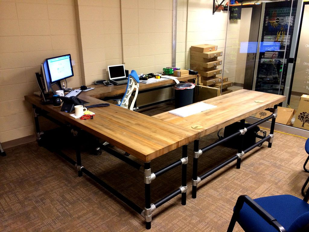Work Tables For Home Office U Shaped Butcher Block Desk Butcher Block Desk Butcher