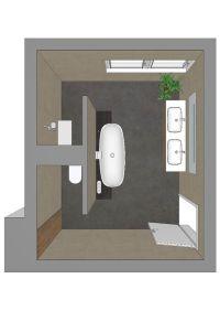 Badezimmerplanung mit T-Lsung: | Bad und WC | Pinterest ...