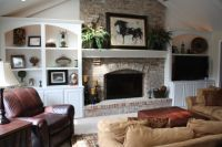 Wish i could flank bookcases on each side of my fireplace ...