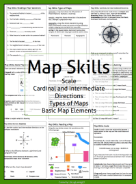 Free Map Scale Worksheets For 3rd Grade - map skills maps ...
