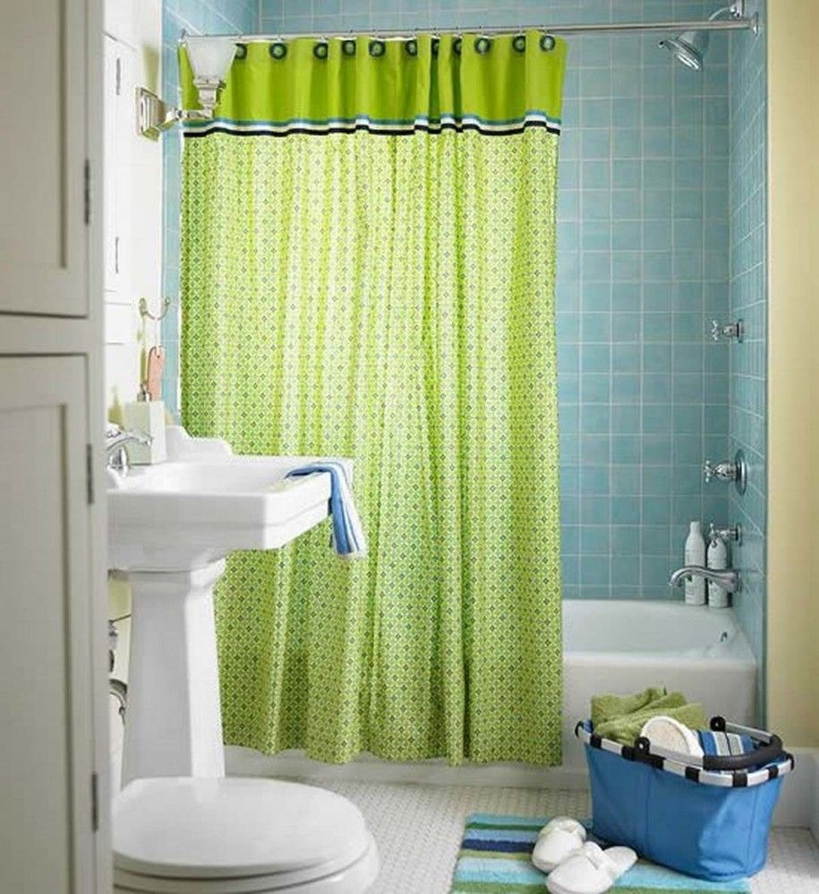 Bathroom net curtains