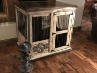 Handcrafted dog kennel and dog crate. Custom dog kennel ...