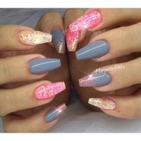 Glitter coffin nails summer nail art | MargaritasNailz ...