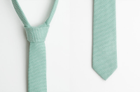 mint green skinny tie ++ aprillookshop