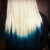 Trendy Hair Color Ideas | Blue dip dye, Trendy hair colors ...