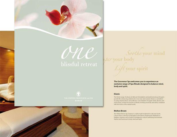 Chester Grosvenor Spa Brochure Branding \ Packaging Bath - spa brochure