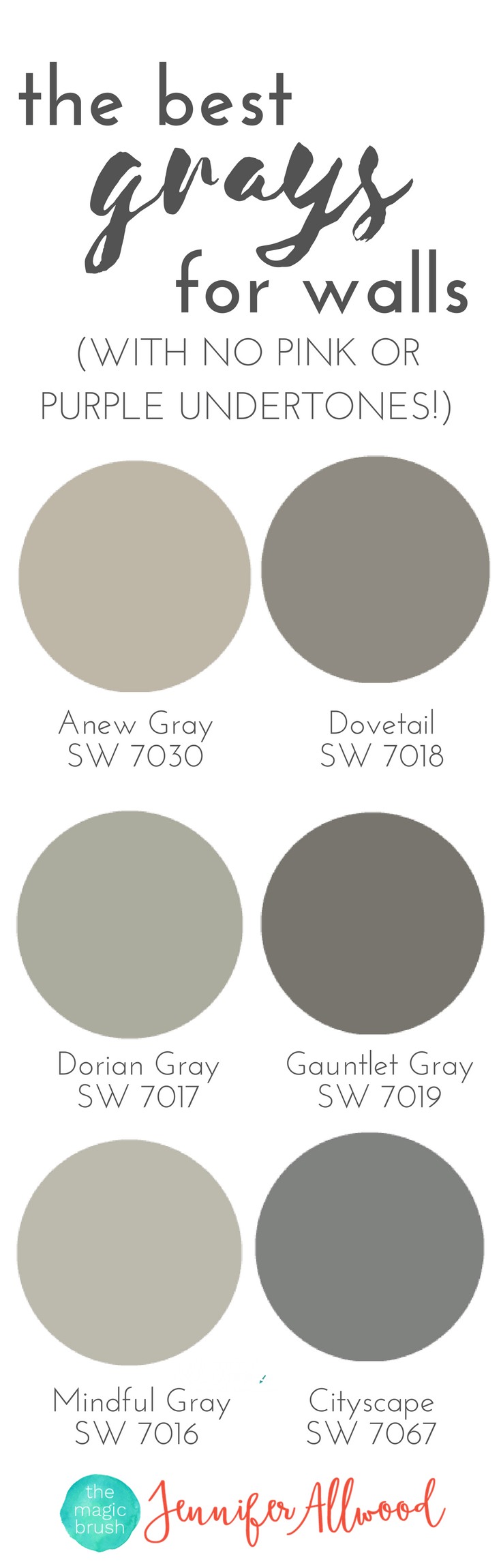 the best Gray Paint Colors for walls with no pink or