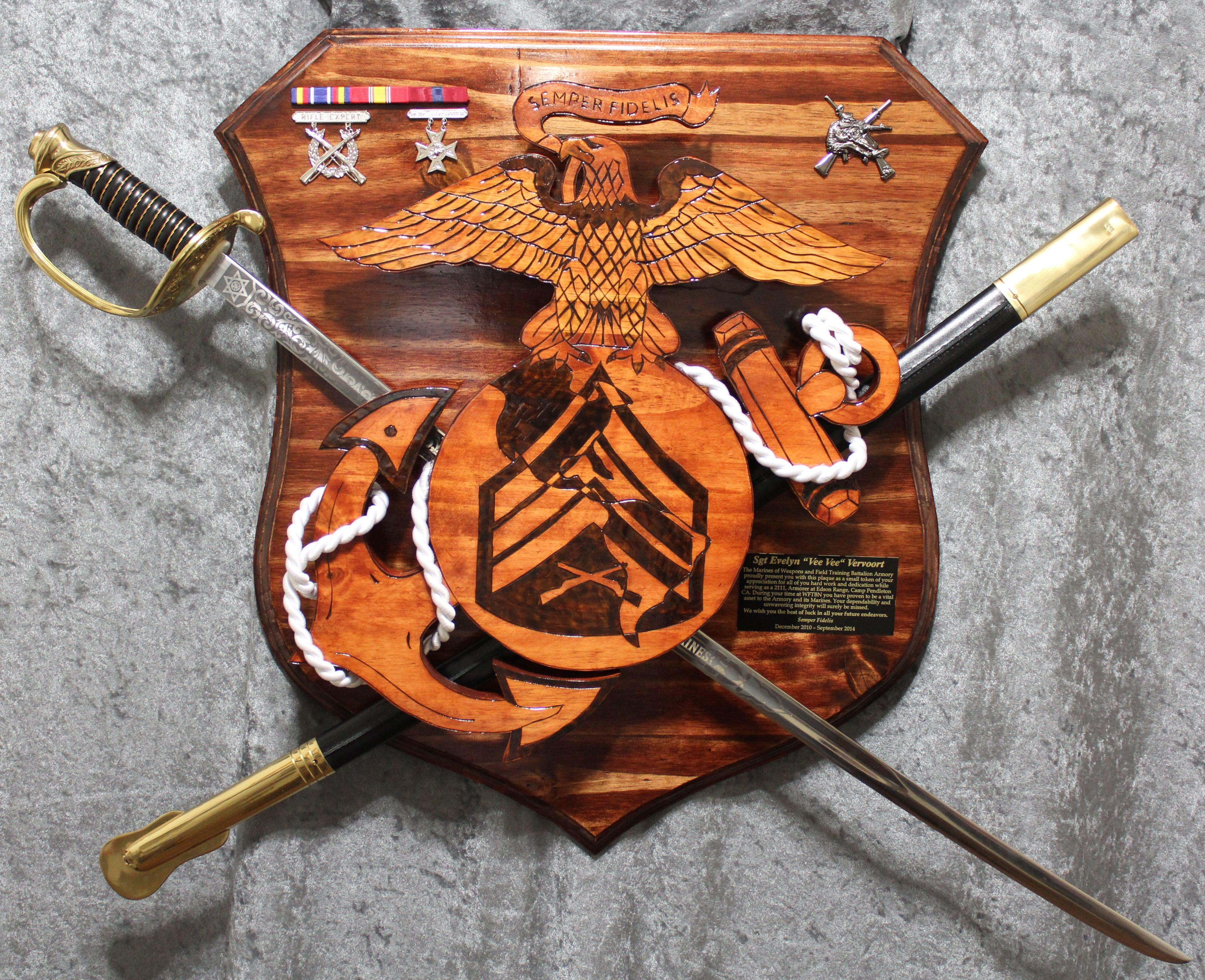 Sword Wall Plaques Usmc Plaque Questions On Design Or Price Contact