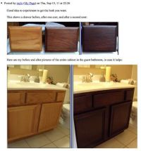 Staining Oak Cabinets an Espresso Color {DIY Tutorial ...