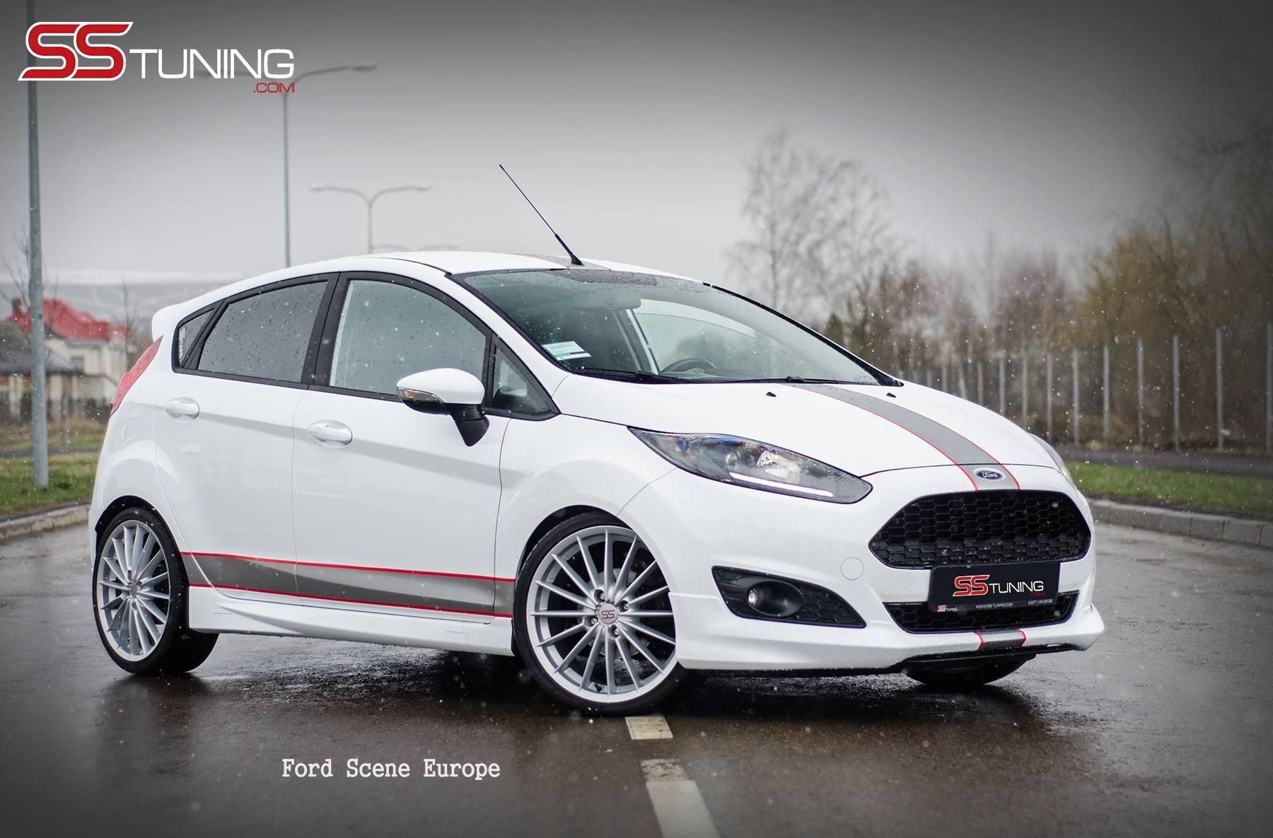 All Black Ford Fiesta Ford Fiesta Ss Tuning White Red And Black All Ford