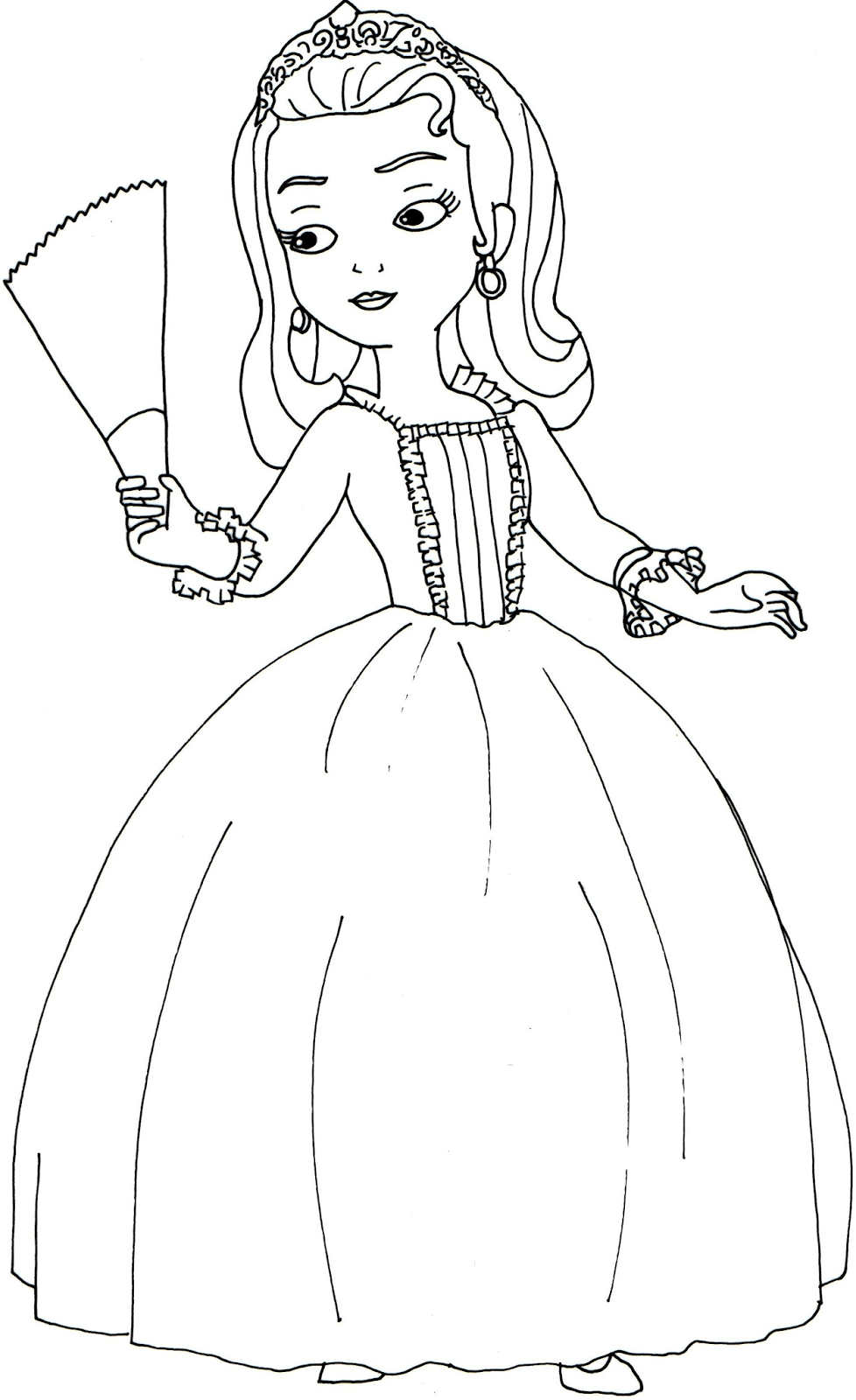 Princess amber sofia the first coloring page