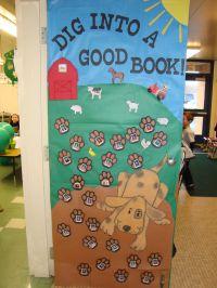 reading classroom doors | classroom decorated their door ...
