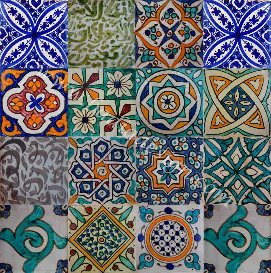 Painting Floor Tiles Australia Moroccan Hand Painted Cement Tile Cement Tiles Bathroom