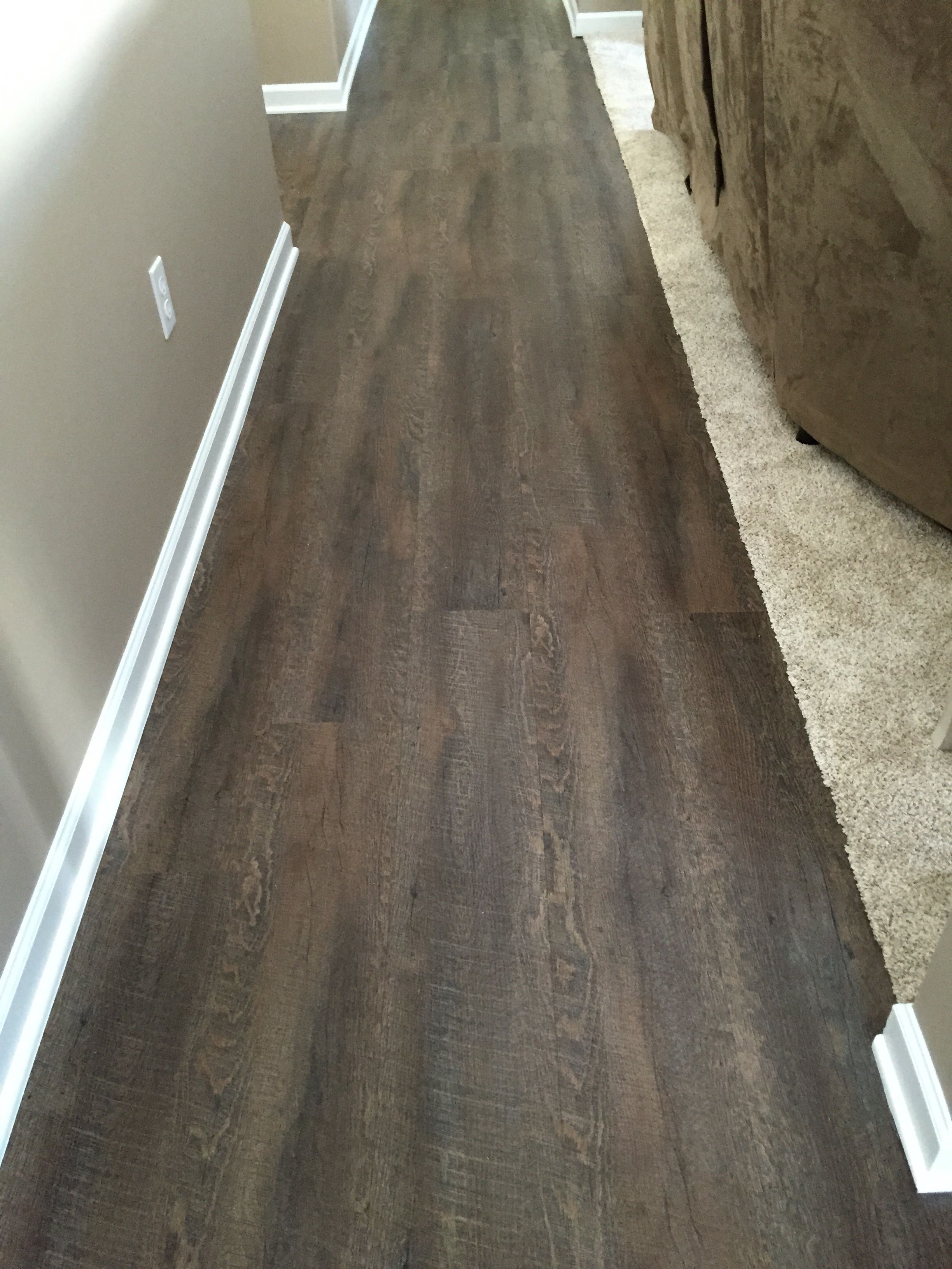 home depot kitchen flooring This is the flooring we are doing Home depot TrafficMaster Allure Sawcut Dakota Vinyl Planks