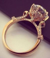 12 Impossibly Beautiful Rose Gold Wedding Engagement Rings ...