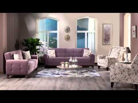 Dream Maxi Living Room Set by Istikbal Furniture Sitting Groups - purple living room set