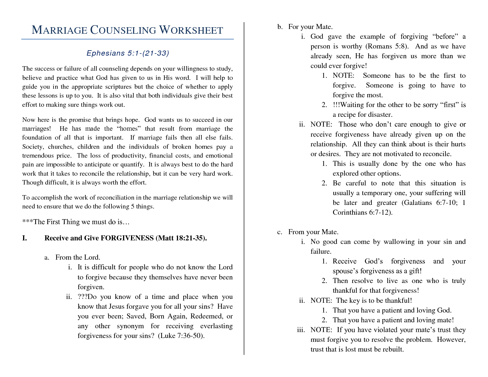 Newest Relationship Therapy Worksheets Goodsnyccom