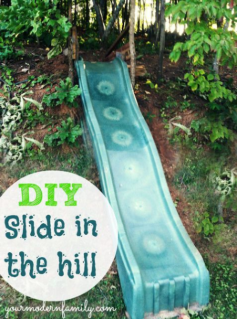 DIY: Make a Slide in the Hill Side or Yard! Easy & Fun for