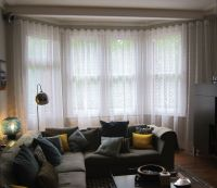 How To Hang Voile Curtains In A Bay Window | Curtain ...