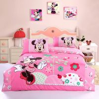 Cute Minnie Mouse Bedding Set Pink