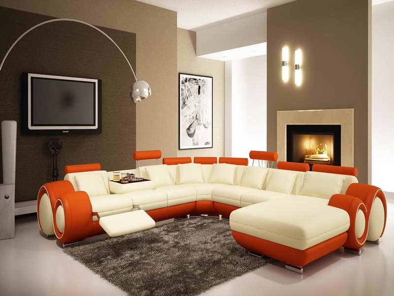 Brown Accent Wall Colors Living Room - Love the multi-tone walls - accent wall ideas for living room