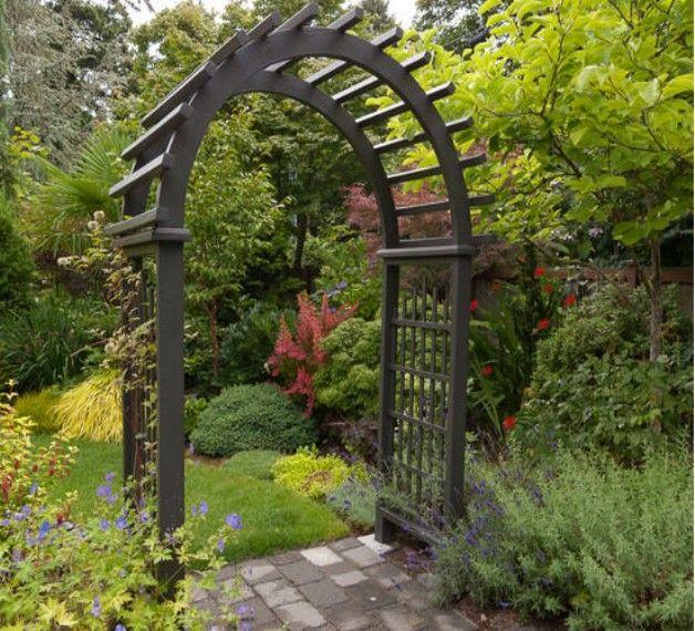 Garden Entrance Arbor Ideas Garden entrance, Arbors and Pergolas - garden arbor plans designs