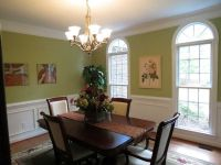 Green Paint colors for small dining room with hanging ...