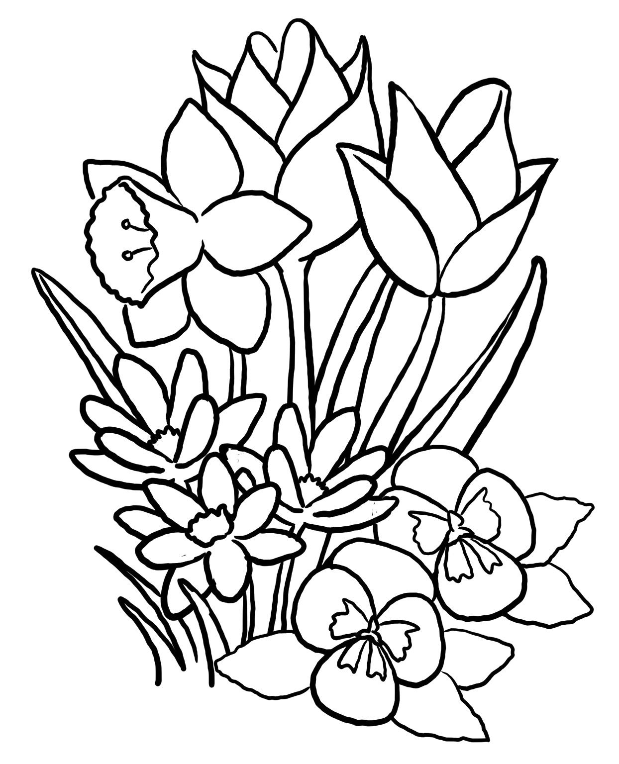Spring coloring pages printable spring coloring pages free spring coloring pages online spring coloring pages for adults teenagers kids sheets flowers