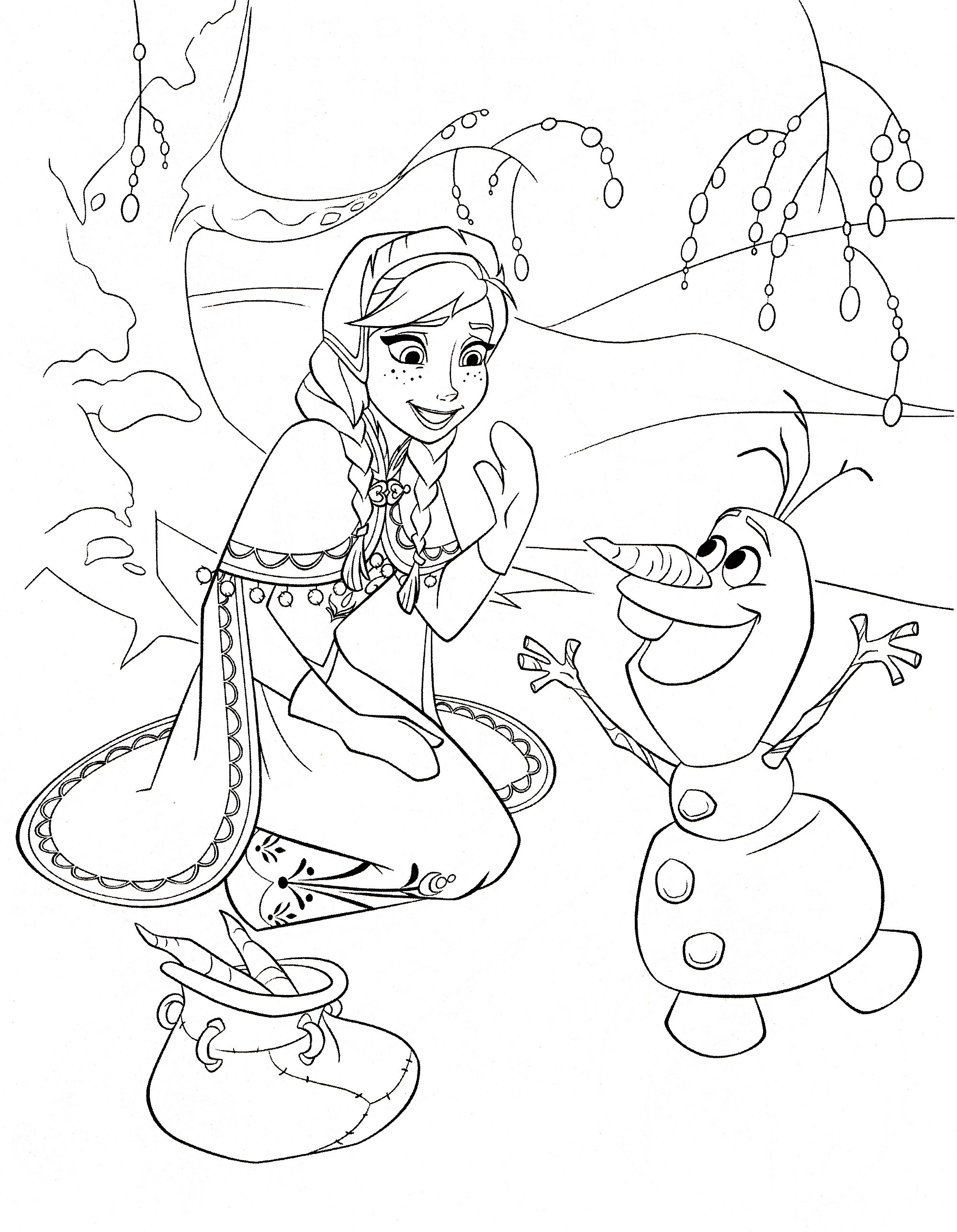Free frozen printable coloring activity pages plus free computer games
