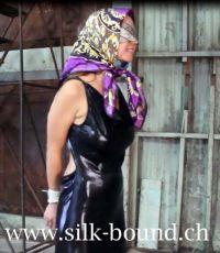 scarfbondage scarffetish seidentuch blindfold gag scarves ...