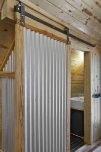Galvanized+Metal+Indoor+Walls | corrugated metal barn door ...