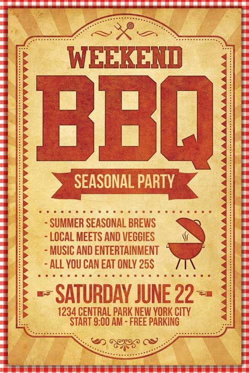 BBQ Flyer Template - http\/\/xtremeflyers\/bbq-flyer-template - bbq flyer