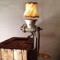 Meat Grinder Lamp made from a small Husqvarna grinder ...
